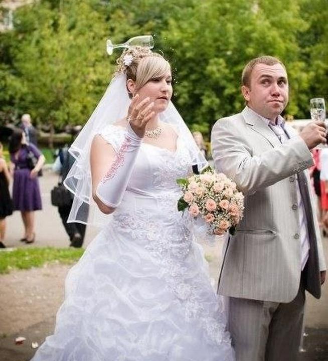 Дурацкие свадебные фотографии