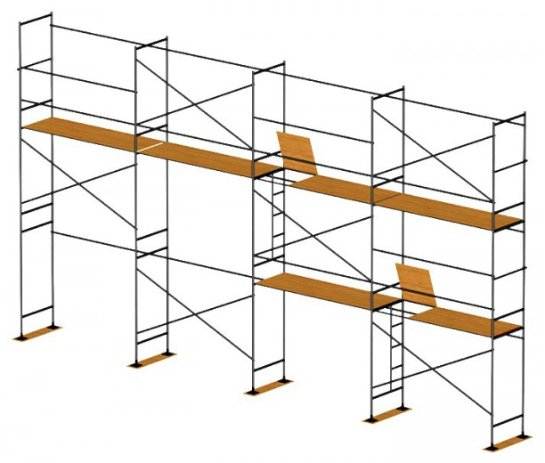Рамные строительные леса в Украине: прочные конструкции для ремонтных работ в помещениях