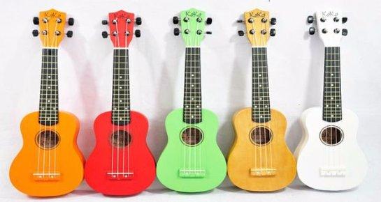 Разные виды гавайской гитары укулеле