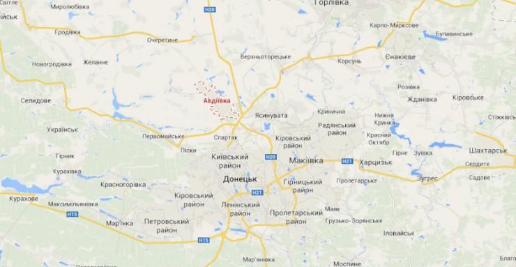 Боевики опять обстреляли Авдеевку