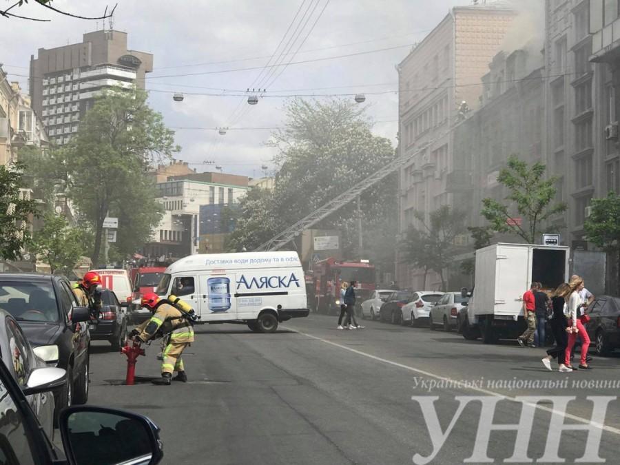 Названа причина пожара в доме в центре Киева