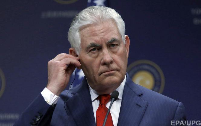 В Белом доме рассказали о целях визита Тиллерсона в Киев