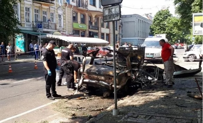 В Одессе был взорван автомобиль, — полиция