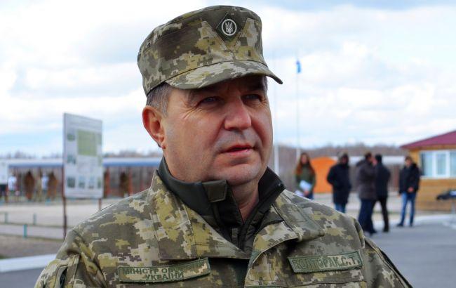 Полторак проверил в зоне АТО боеготовность артиллеристов и танкистов