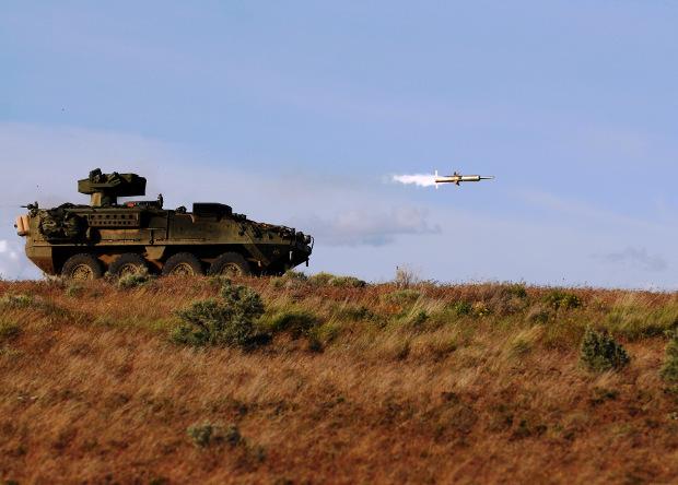 Американские бронемашины Stryker получат 50-киловаттные лазеры