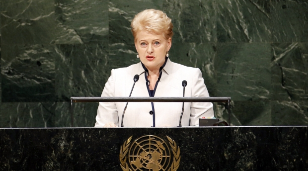 ДелегацияРФ покинула зал Генассамблеи ООН перед выступлением Грибаускайте