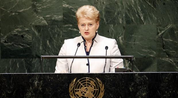 ДелегацияРФ ушла иззала Генассамблеи ООН перед выступлением президента Литвы