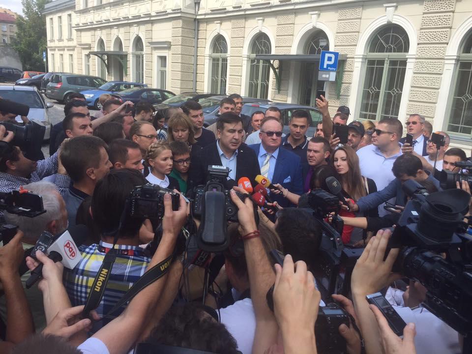 Саакашвили попытается въехать в Украину через Перемышль: прямая трансляция