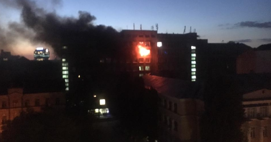 В Киеве произошел пожар в Институте пищевых технологий