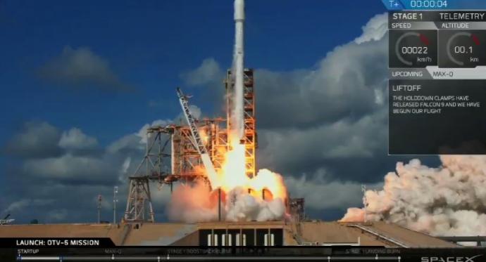 SpaceX впервые запустила засекреченный самолет ВВС США