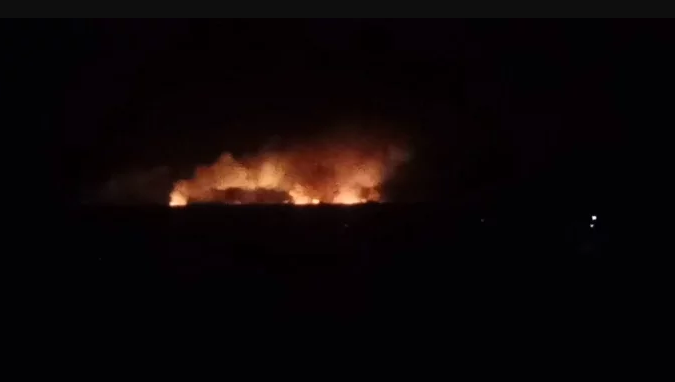 В Винницкой области образовались большие пробки из-за взрывов на складах Минобороны