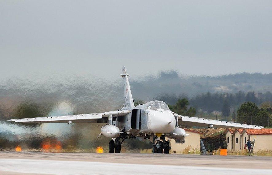 В Сирии разбился российский бомбардировщик Су-24