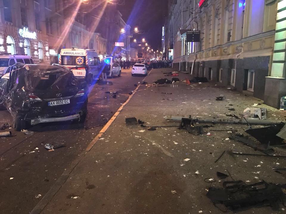 Устроивший смертельное ДТП «Лексус» участвовал в гонках по ночному Харькову, — Геращенко