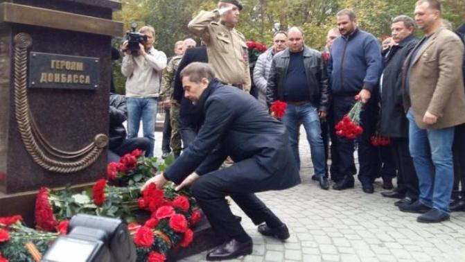 Сурков открыл памятник «героям Донбасса» в Ростове вместе с лидерами боевиков