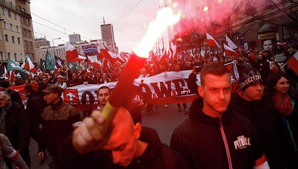 На марше националистов в Польше вспомнили о Львове