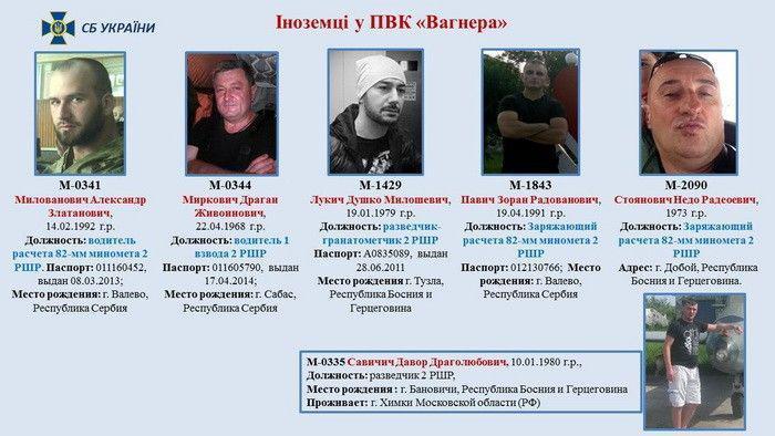 Сербские наемники воюют против Украины