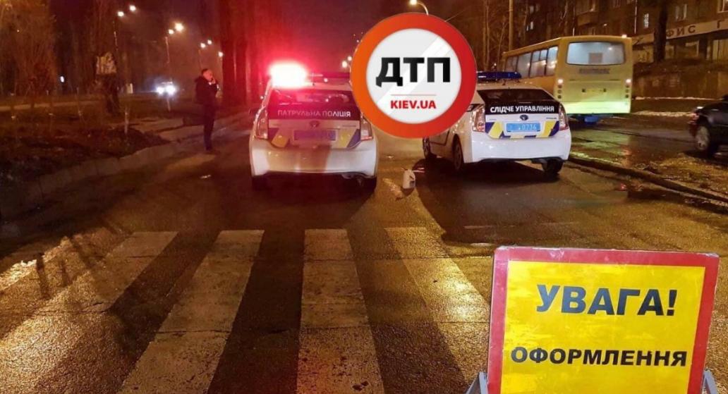 В Киеве водитель насмерть сбил женщину на переходе