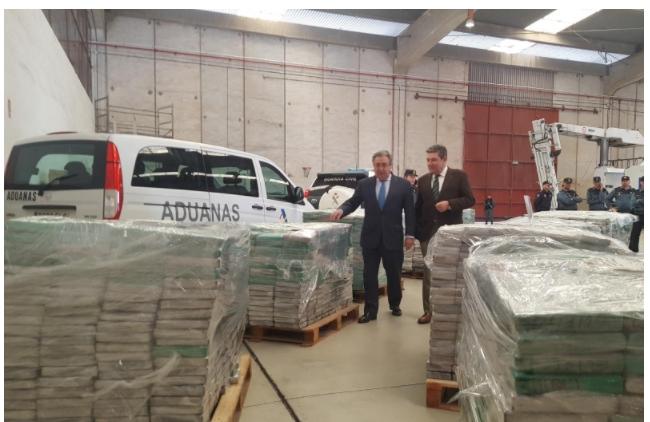 ВИспании изъяли партию кокаина на $250 млн