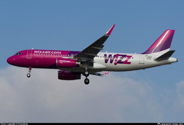 WizzAir в 2017г увеличил перевозки на украинских рейсах почти на 80%