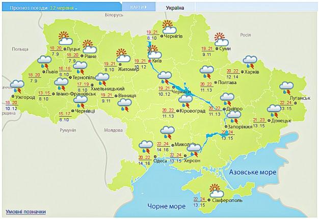 В Украине ожидают порывы ветра, туман и подъем воды в реках