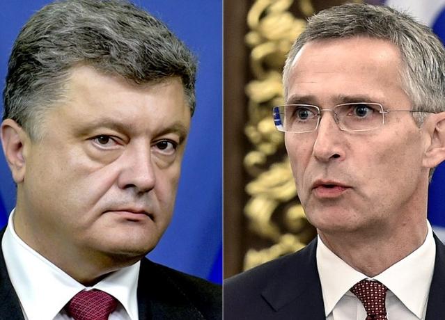 Порошенко обсудил с генсеком НАТО ситуацию на Донбассе