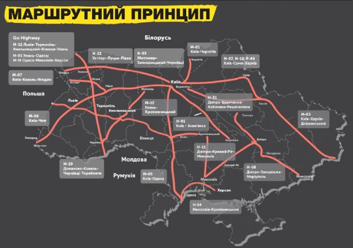Какие дороги в Украине будут ремонтироваться в 2018 году