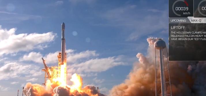 SpaceX удачно запустила сверхтяжелую ракету Falcon Heavy
