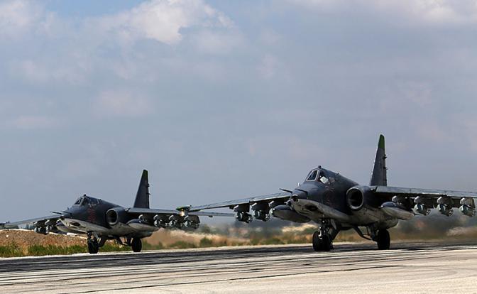 В Сирии был сбит российский штурмовик Су-25