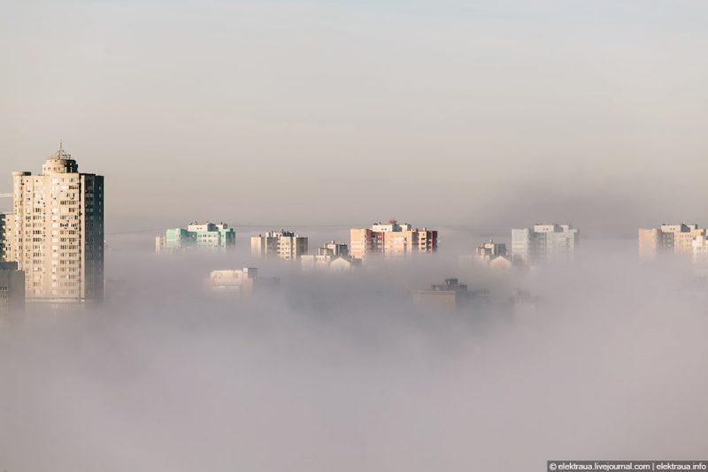 Украину накрыл туман: видимость до 200 метров