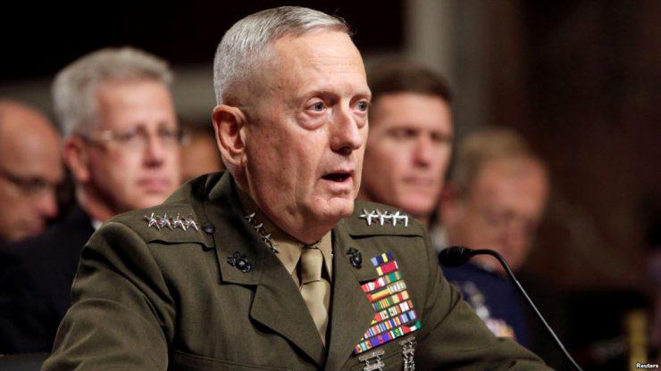 Мэттис не исключает применение силы против Сирии в ответ на возможную химатаку