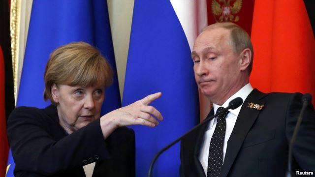 Меркель и Путин обсудили ситуацию в Сирии и Украине