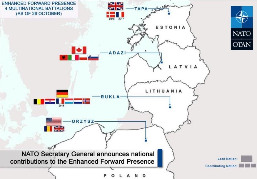 Страны Балтии попросят Трампа увеличить военное присутствие США в регионе