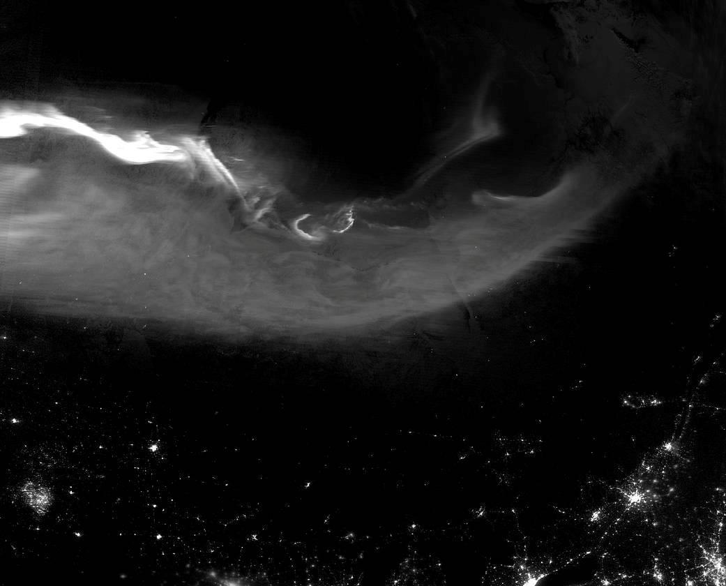 NASA показало впечатляющий снимок северного сияния