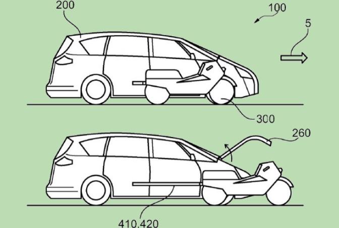 Ford придумал автомобиль со встроенным мотоциклом