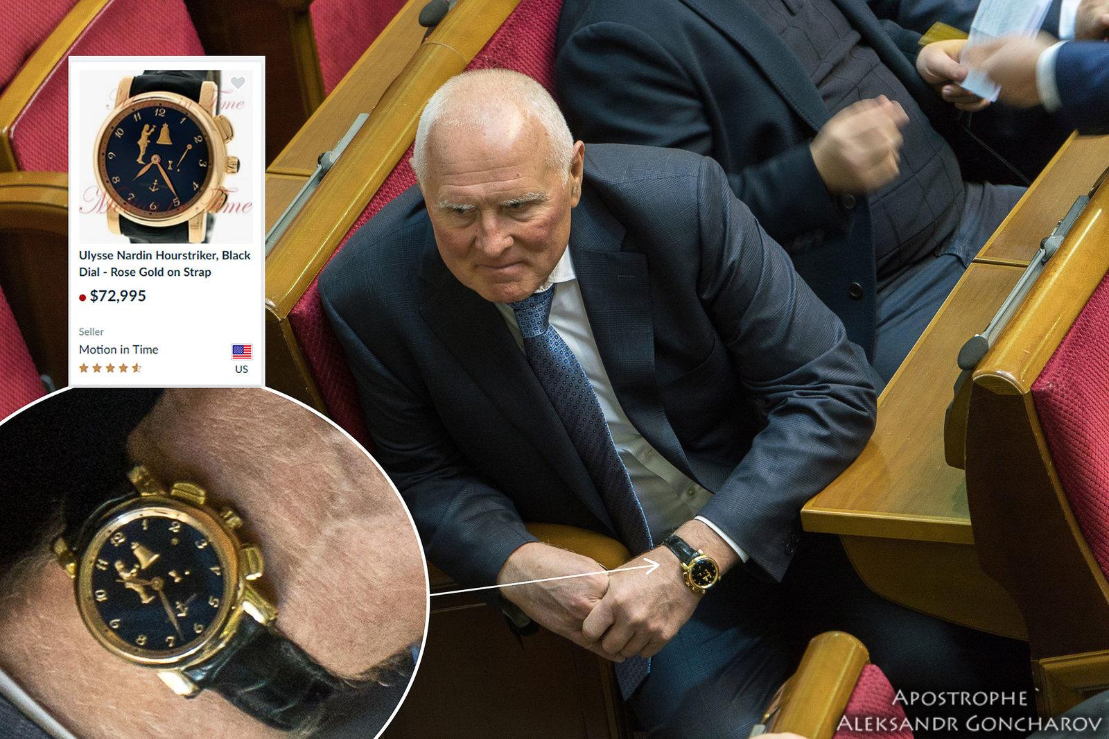 Нардеп засветил в Раде элитные часы за 2 миллиона гривен