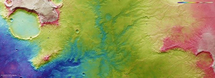 Опубликовано изображение Марса со следами древней экосистемы