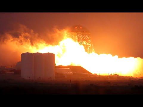 SpaceX первый раз запустила прототип Starship