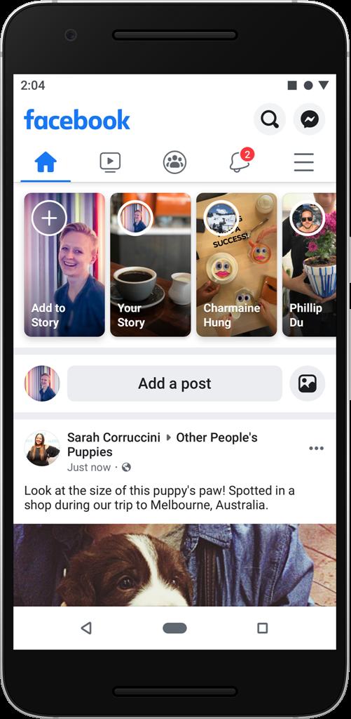 Facebook представил измененный дизайн приложения и сайта
