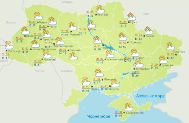 Прогноз погоды на 1 июля: возвращается жара более +30