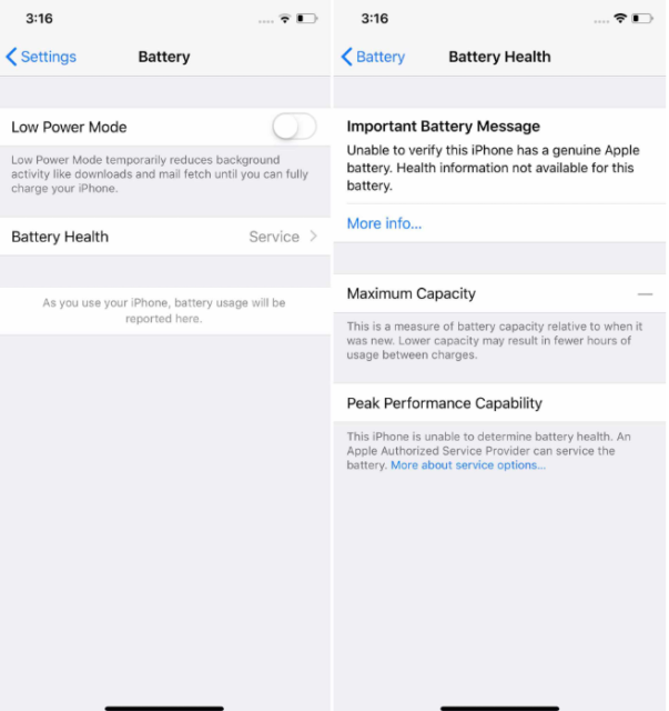 Apple усложняет нелегальную замену батареи iPhone