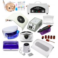 Что в себя включает ассортимент оборудования для маникюра и педикюра