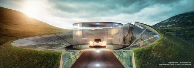 Aston Martin представил эскизы футуристичных гаражей: Фото