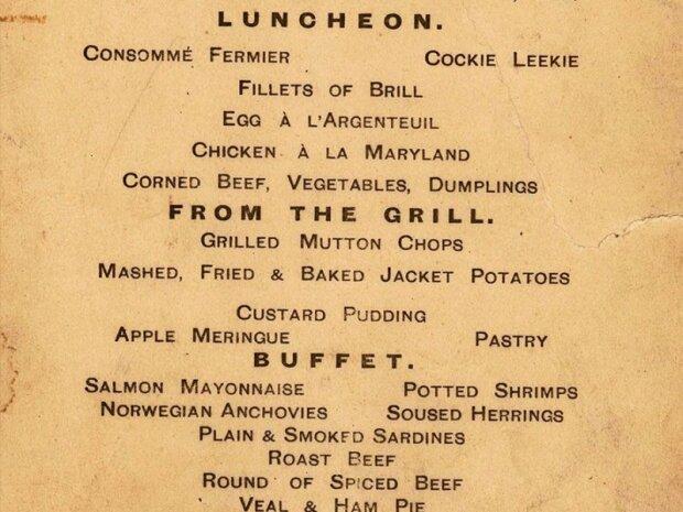 Опубликовано меню последнего ужина на Титанике