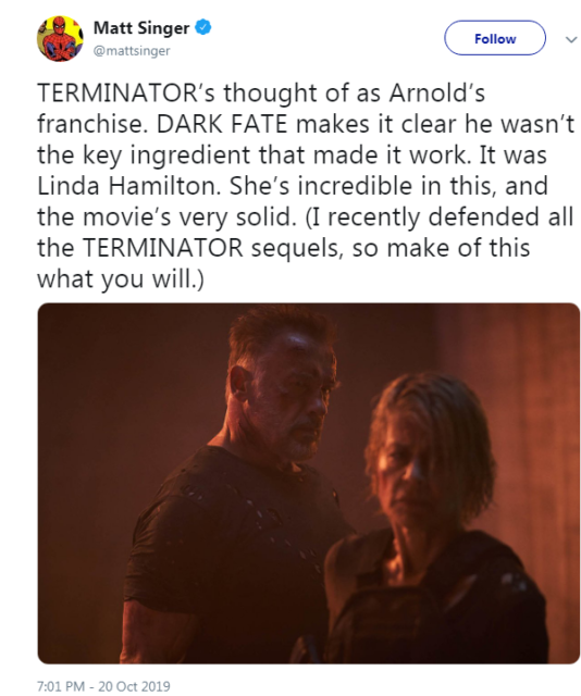 «Терминатор: Темные судьбы» превзошел все ожидания: первые отзывы