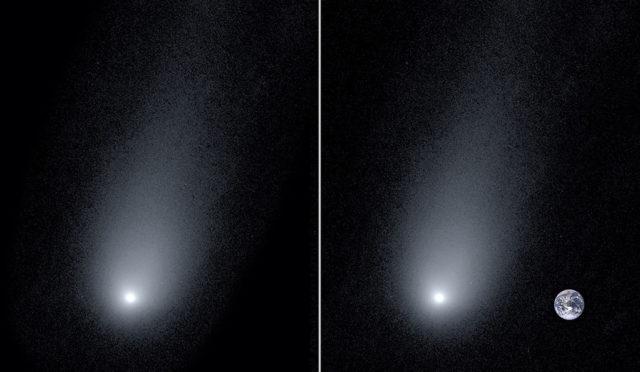 Ученые измерили длину хвоста кометы, которая стремительно летит к Земле