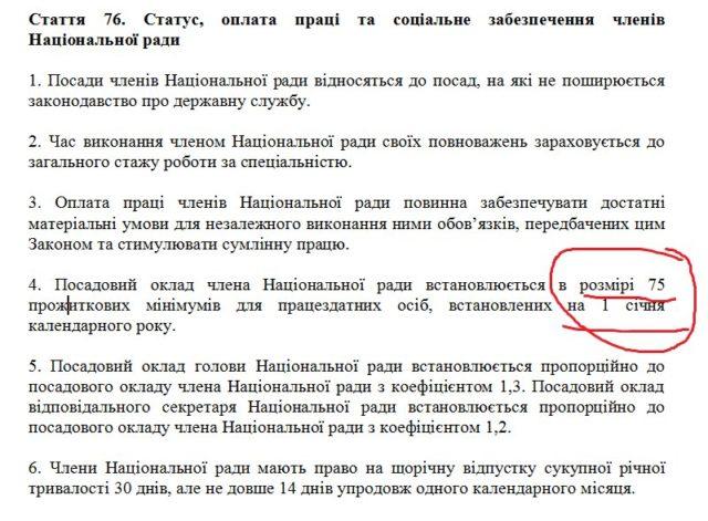 Бородянский решил повысить зарплату членам Нацсовета по ТВ
