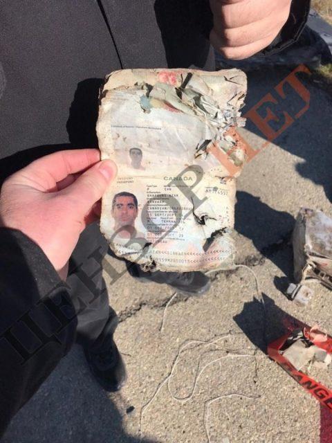 Появились первые фото деталей Боинга, пробитые иранской ракетой