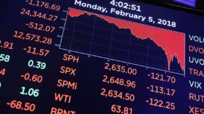 Биржи США закрылись с рекордным падением с 1987 года