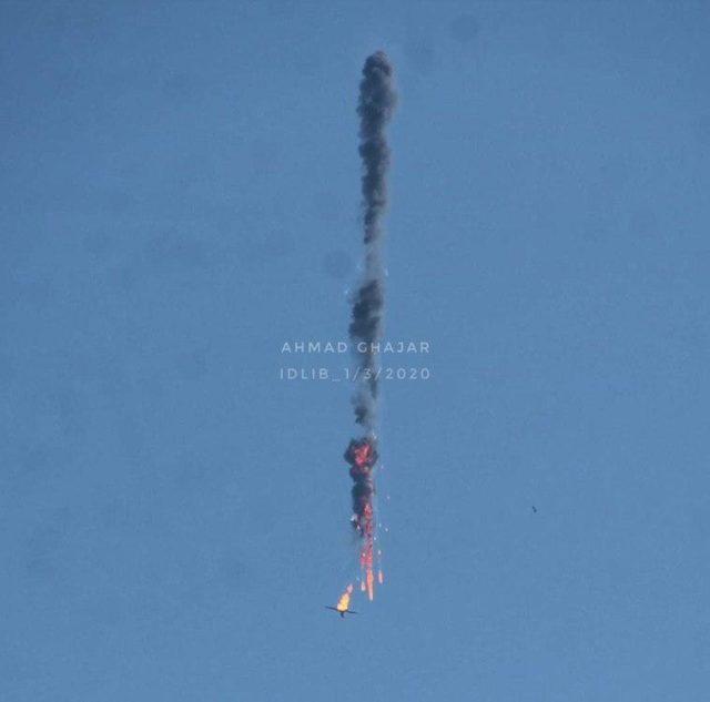 Над Сирией сбили турецкий беспилотник: видео