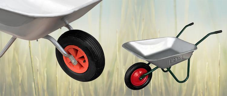 На что обратить внимание, выбирая колеса для тачки садовой